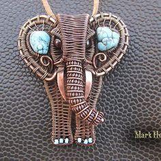 Sergey  Surovtsev (@_markhot_jewelry_) в Instagram: «Elephant pendant. #elephant #wirewrap  #markhot»