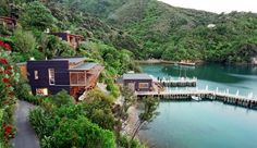 Bay of Many Coves is a luxury resort in New Zealand's spectacular Marlborough Sounds. If you enjoy adventure but also want to relax, this is the perfect place, secluded in a pristine natural environment. The Marlborough Sounds is an adventur Oh The Places You'll Go, Places To Travel, New Zealand Country, Marlborough Sounds, New Zealand Tours, New Zealand Image, To Infinity And Beyond, South Island, Future Travel