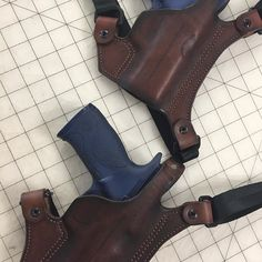Brown Leather Chest Holsters