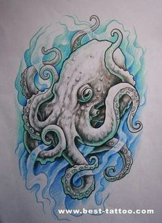 Lessons That Will Get You In The arms of The Man You love Squid Tattoo, Sea Tattoo, Ocean Tattoos, Raven Tattoo, Dark Tattoo, Body Art Tattoos, Sleeve Tattoos, Octopus Tattoo Design, Octopus Tattoos