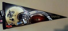 New Orleans Saints Rico Diecut Pennant - 2009 Super Bowl 44 Champion