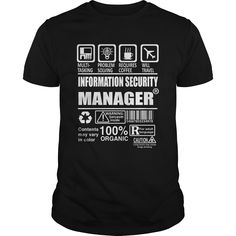INFORMATION SECURITY MANAGER TSHIRT HOODIE