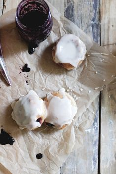 Glazed Grape Jelly Filled Honey Lemon Whole Wheat Doughnuts