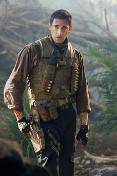 Adrian Brody as Royce in Predators ~ he was such a badass in this movie! great movie in general! lots of action and good plot <--- Maybe I should watch it for the action and plot, not because he's in it or anything...;)