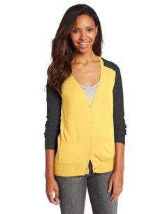 Juniors T-Shirt Fabric Cardigan 3/4 Sleeve 6 Button Many Colors ...