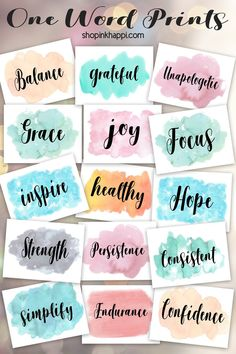 One Word Prints – inkhappi The Words, Images And Words, Bff Images, One Word Inspiration, Word Doodles, Hand Lettering Art, Brush Lettering, Creating A Vision Board, One Word Art