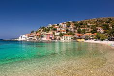 Assos is considered one of the most picturesque seaside villages of Kefalonia and is famous for its Venetian castle. Seaside Village, Luxury Holidays, Greece Travel, Greek Islands, B & B, Planet Earth, Places To Visit, Castle, Mansions