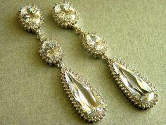 Bridal Earrings, Wedding Earrings, Crystal Earrings by BridalJewelryEtc, $56.50