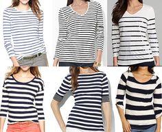 J's Everyday Fashion: Flashback Friday: Navy Striped Shirts