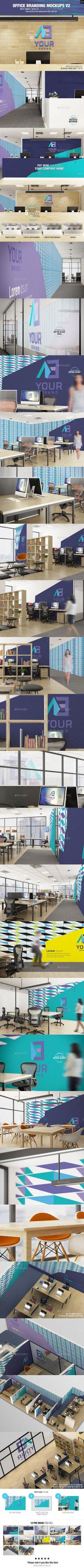 Office Branding Mockup V2 Office Interior Branding