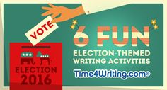Doing a unit study or project about elections or the election process? Incorporate these six fun election-themed writing activities for homeschoolers.