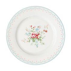Greengate Stoneware Plate Abelone White D 20,5 cm