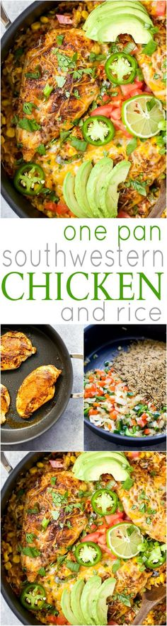 ONE PAN SOUTHWESTERN CHICKEN AND RICE - an easy healthy dinner recipe all made in one pan for easy cleanup! It's perfect for the family and bursting with flavor! | joyfulhealthyeats.com #ad | gluten free recipes #FavoriteFamilyRecipe