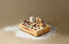 mini metropolises made of food comprise brunch city series