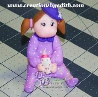 I used a baby crawling mold for this baby girl, watch the tutorial video in my website