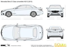 Mercedes-Benz E-Class Convertible vector drawing Mercedes Convertible, Benz E Class, Mercedes Benz Cars, Car Drawings, Car Sketch, Cool Cars, Automobile, Cake Templates, Design Templates