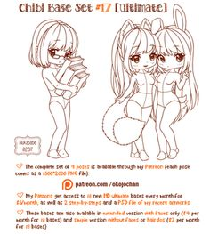 Chibi Pose Reference (Ultimate Chibi Base Set by Nukababe on DeviantArt
