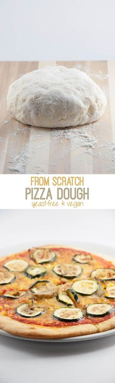 Yeast-Free Vegan Pizza Dough | http://ElephantasticVegan.com