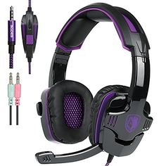 New Xbox one PS4 Gaming Headset with Mic Volume Control SADES SA930 Stereo Headphone for PC Laptop Mac Tablet Smartphone by AFUNTABlackPurple * See this great product.