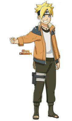 Boruto: Naruto The Movie|Boruto (Father's Jacket) by iEnniDESIGN Boruto Rasengan, Sasuke Uchiha Sharingan, Neji E Tenten, Naruto Vs Sasuke, Naruto Cute, Naruto Shippuden Sasuke, Naruto Girls, Naruto New Generation, Dbz Manga