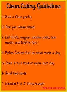 Clean Eating Guidelines