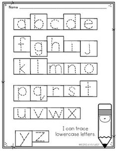 Alphabet Tracing Worksheet- Upper & Lowercase Letters
