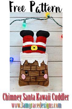 Chimney Santa Kawaii Cuddler™ - Free Crochet Pattern - Weihnachten Chimney Santa Kawaii Cuddler™ – Free Crochet Pattern Our Free Chimney Santa amigurumi crochet pattern makes an adorable kawaii Christmas decoration! Crochet Santa, Holiday Crochet, Crochet Gifts, Crochet Angels, Free Christmas Crochet Patterns, Crochet Christmas Decorations, Crochet Ornaments, Crochet Snowflakes, Kawaii Crochet