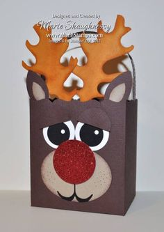 Rudolph the Reindeer Box by Card Shark - Cards and Paper Crafts at Splitcoaststampers