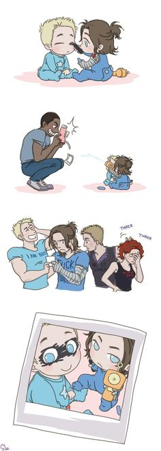Steve and Bucky Babies: Eye Shadow by SilasSamle on DeviantArt