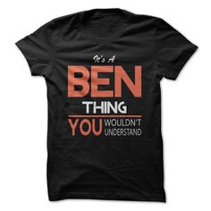 (Tshirt Perfect Gift) Its a BEN thing you wouldnt understand T Shirt Hoodie Hoodies Year Name Birthday Teeshirt Online Hoodies, Tee Shirts