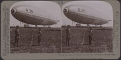 R.34 at Mineola, U.S. after her great Atlantic voyage- Underwood Stereoview