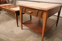 Vintage Mid Century End & Coffee Table Set W/ by MichiganModern, $165.00