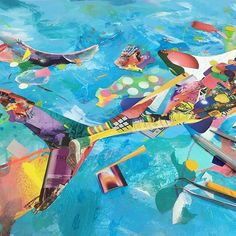【yohnagao】さんのInstagramをピンしています。 《Cut&Paste all day everyday A work for @pangeaseed foundation in the progress 切り貼り毎日やっとりまーす。このある魚の作品はパンジアシードのプロジェクトのための一点  #fish #whaleshark #pangeaseed #art #yohnagao #paint #collage #ocean #sea #thebiggest #berlin #japanese #artist #art 魚 #海洋生物 #海 #コラージュ #日本人 #アーティスト #ベルリン #芸術家 #cutandpaste #glue》