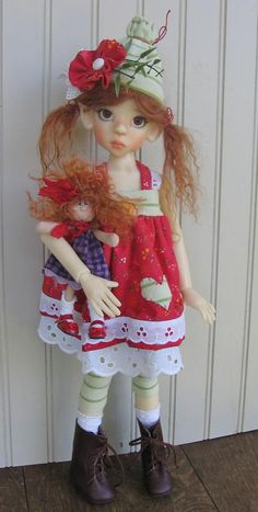 This photo was uploaded by deenascountryhearth.  - Too cute doll by Kaye Wiggs