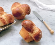 Bubble Top Brioches Photo - French Favorites Recipe | Epicurious.com
