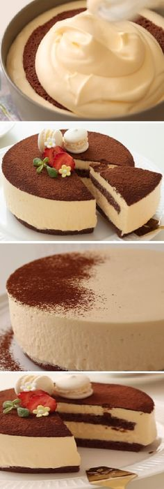 How to make a rich and fluffy Japanese cotton TIRAMISU! Just Desserts, Delicious Desserts, Yummy Food, Baking Recipes, Cake Recipes, Dessert Recipes, Food Cakes, Cupcake Cakes, Cupcakes