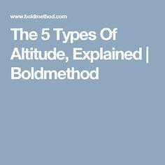 The 5 Types Of Altitude, Explained | Boldmethod