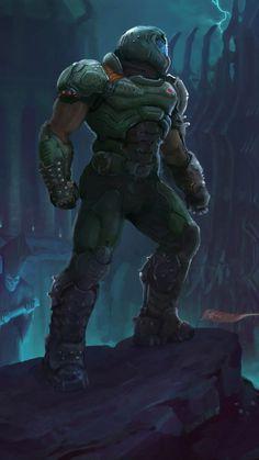 Doom Eternal 2019 Kostenlose Ultra HD Mobile Wallpaper vs series x, Mecha Anime, Goblin, Cyberpunk, Game Character, Character Design, Hd Phone Backgrounds, Doom Game, Doom 4, Doom 2016