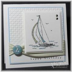 Masculine sailboat card