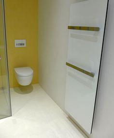 Fugenloses Badezimmer. Vorher/Nachher Bilder hier http://www.malerische-wohnideen.de/blog/mehr-veraenderung-geht-nicht-badezimmer-vorhernachher-jetzt-voellig-fugenlos-ohne-fliesen-750.html