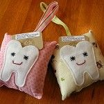 Tooth Fairy Pillow eco felt - by GREENDROP-ecocraft on madeit