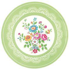 Greengate Melamine Plate Wendy Green