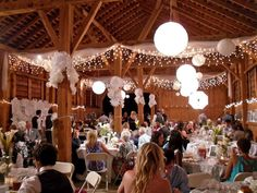 Our wedding!!!! Union Mills Homestead, MD -Tannery Barn---inside the tannery