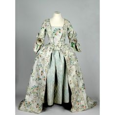 open robe, sack back dress  18th Century, Undated