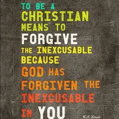 forgive   C.S. Lewis