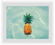 Floating Ananas Wohnzimmerwand WestwingNow