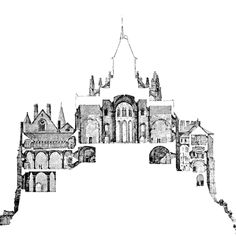 MtStMichel-CoupeTransversale-1875 - Mont Saint Michel Abbey - Wikipedia, the free encyclopedia