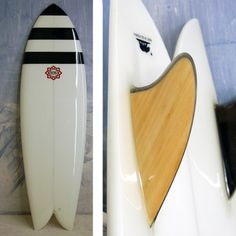 6'0 Bing Twin Fin with resin jailbird nose stripes