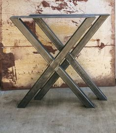 Contemporary Steel Table legs that just need a nice clean wood counter top or wood slab. Welds are carefully welded so there is a clean smooth connection as shown in image. Material:  -2x2 -1/8 squared steel tube Width Size: -24 wide -Can be custom if requested  Top Plate: -3/16 thick top plate with 1/4 holes