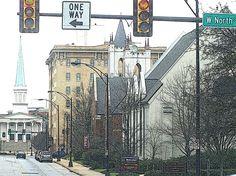 Greenville , SC. Buncombe Street Methodist Church in background? Street church